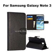Lichee pattern wallet style high class leather case galaxy note 3