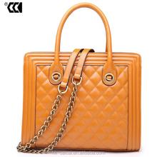 Ladies fashion leather handbags, CC brand ladies leather handbags