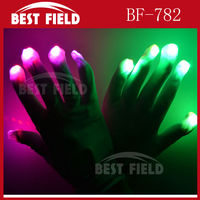 23cm big white party Rave Light led flashing led gloves