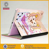 2013 Hot sell for Apple ipad mini PU leather flip case lovely cartoon case