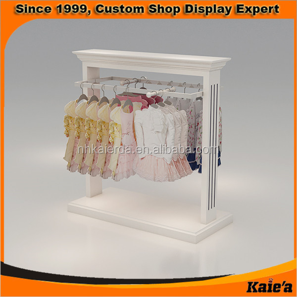 New Best Seller Wooden Kids And Baby Clothes Display Rack