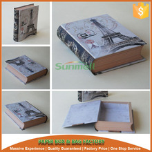 round spine book shape cosmetic paper gift boxes wholesale