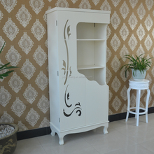 Low price white antique solid wood wardrobe made in china