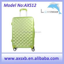 2015 fashion ABS grass green trolley case aluminum trolley teenager case aluminum trolley luggage case
