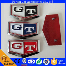 ABS GT Logo Side Sticker Emblem For C210 3D Badge Stickers Decal