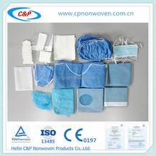 Medical/surgical single use ophthalmic drape kits, disposable ophthalmic drape sets