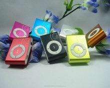 Reproductor de mp3 del clip con muchos colores vendiendo en $ 1.00
