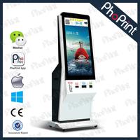 Indoor/outdoor advertising machine floor standing wifi network photo printer/hot photo kiosk/xxx video player/wedding machine