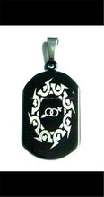 LGBT Laser Etched Stainless Steel Dog Tag Pendant - Equality, Gay and Lesbian Pride Necklace