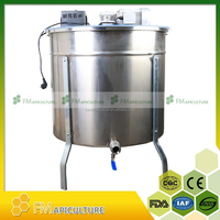 1000 pcs per hour stainless steel electric motor 12 frames bee honey extractor