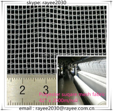 White color 100% Polyester square mesh fabric size 42'' x 2000m/roll