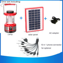 Led Light Source and Rechargeable Battery Power Source portable rechargeable Solar Emergency Camping Lantern