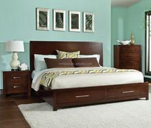 standard furniture platform bedroom set in dark merlot