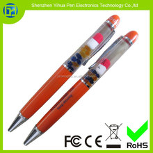 2015 Custom liquid pen for The hotel gift / Liquid Filled Acrylic Pen for Car Gifts