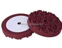 8 inch Maroon Compounding Pad Grooved Surface Car Foam Buffing Pad