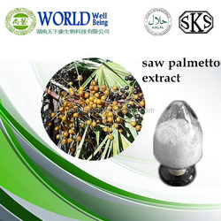 Hot Sale natural Saw Palmetto extract/Saw Palmetto extract powder 25% 45% fatty acid