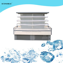 China manufacture supermarket commercial fruit round refrigerator