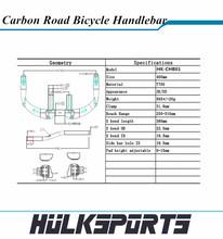 Manillar de carbono para Trail tiempo de carbono bicicleta de carretera TT bar con carbono por carretera de carreras