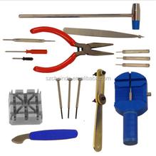 16 Piece Watch Repair Kit Set & Wrist Strap Adjust Pin Tool Kit Back Remover Fix