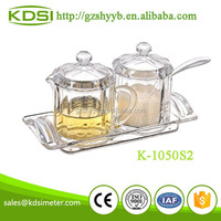 Plastic condiment spice container acrylic kitchenware K-1050S2 Decagon mini condiment set of 2 Pieces