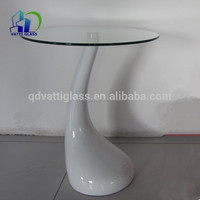 Glass dining table tempered plate glass table top hot selling tempered glass table top