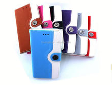 Hot Selling stand leather for moto x3 back cover leather case provide sample