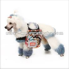 UW-PBP-07 2012 New stylish popular canvas colorful pet carrier bag dog carrier bag with pentangle patte for dogs