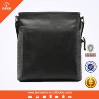 Hot Selling Genuine Leather Weaving Men Style Leather Sling Shoulder Bag