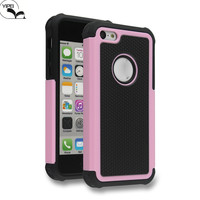 3 in 1 Triple layers defender cover For iPhone 5C Football soft TPU Case For Apple iPhone 5C