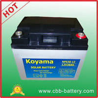 Solar battery 38ah 12V Deep cycle AGM battery for power tools