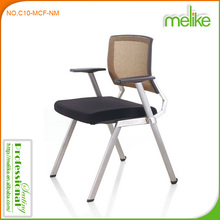 Kama modern silver powder coating four legs with armrest mesh office chair