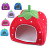 Comfortable material folding kennel Strawberry shape design dog bed with different color and size