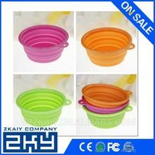 Dog Cat Fashion Silicone Collapsible Feeding Water Feeder Bowl pet supplies Travel Dish Folding dog bowl