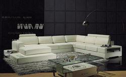 Italian design Large Size U-shaped genuine leather corner Sofa Foshan model 9113