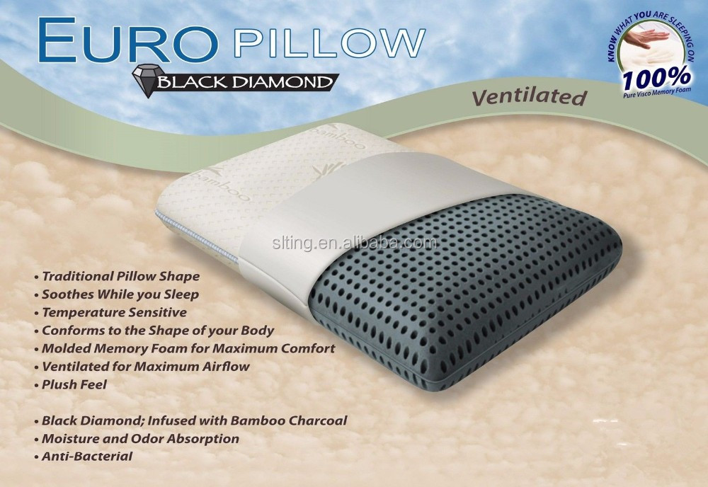 z zoned dough memory foam bed pillow infused with bamboo cha