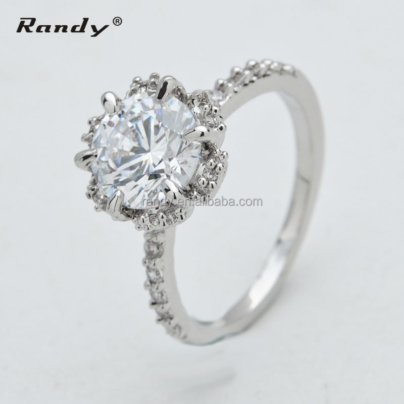 fashion cheap engagement ring 925 silver engagement ring