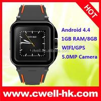 1.54 Inch Corning Glass IPS Screen 5.0MP FF Camera 1GB RAM/8GB ROM WIFI GPS Wrist Watch Phone Android