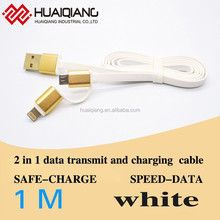 Multi-function 2 in 1 micro usb data cable usb 2.0 cable charging cable