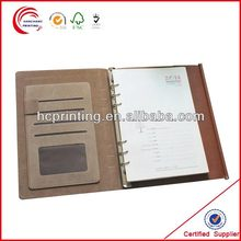 Note book with name card pocket