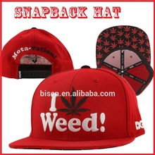 Custom Cotton 3D Embroidery Snapback Hat, Snapback Cap