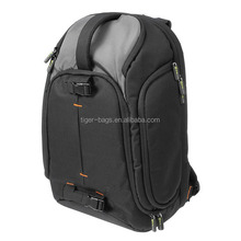 Large camera and 15.6-inch laptop backpack w/rain cover and padded handle