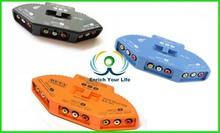 AV 3Way Port RCA Input TV Multi Selector Switch Splitter Audio Video DVD XboxP