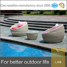 Garden furniture set rattan egg chair cute and comfortable waterproof rattan outdoor furniture