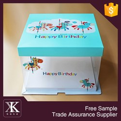 2015 New Design Clear Plastic Packaging Box For Cake