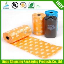 dog poop bag shandong / pet waste bag wholesale / bag on roll