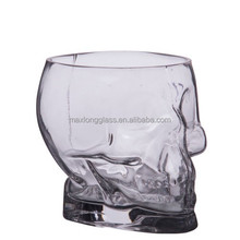 Clear glass skull ice bucket