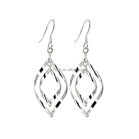 925 silver wiht rhodium plated & rose gold plated drop earrings