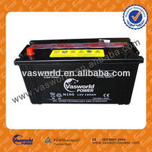 high quality 95E41R 95E41L N100MF 55d23l JIS Standard 12v mf car battery 100ah best price for England market