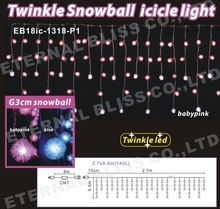 snow falling led christmas lights, led snow drop lights