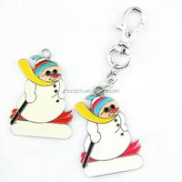 Customized White Snow Man Key Chain For Brand Logo Promotion Gift Wholesale